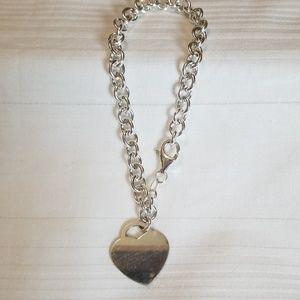 Jewelry - Silver 925 ID Heart Bracelet Italy